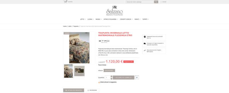 Sito web e-commerce Salzano